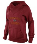 Wholesale Cheap Women's Kansas City Chiefs Heart & Soul Pullover Hoodie Red-1