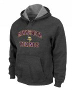Wholesale Cheap Minnesota Vikings Heart & Soul Pullover Hoodie Dark Grey