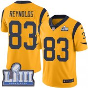 Wholesale Cheap Nike Rams #83 Josh Reynolds Gold Super Bowl LIII Bound Men's Stitched NFL Limited Rush Jersey