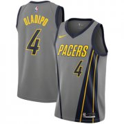 Wholesale Cheap Men's Nike Indiana Pacers #4 Victor Oladipo Gray NBA City Edition Jersey