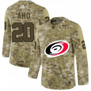 Wholesale Cheap Adidas Hurricanes #20 Sebastian Aho Camo Authentic Stitched NHL Jersey