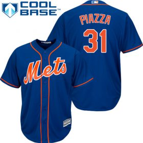 Wholesale Cheap Mets #31 Mike Piazza Blue Cool Base Stitched Youth MLB Jersey