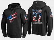 Wholesale Cheap Coyotes #27 Teppo Numminen NHL Banner Wave Usa Flag Black Hoodie