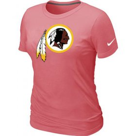 Wholesale Cheap Women\'s Nike Washington Redskins Pink Logo T-Shirt