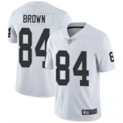Wholesale Cheap Nike Raiders #84 Antonio Brown White Men's Stitched NFL Vapor Untouchable Limited Jersey