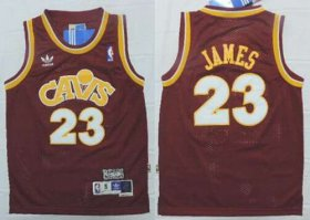 Cheap Youth Cleveland Cavaliers #23 LeBron James CavFanatic Red Hardwood Classics Soul Swingman Throwback Jersey