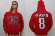 Wholesale Cheap CCM Washington Capitals #8 Alex Ovechkin Red Lace Up Hoodie