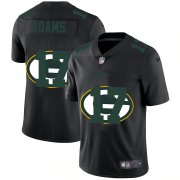 Wholesale Cheap Green Bay Packers #17 Davante Adams Men's Nike Team Logo Dual Overlap Limited NFL Jersey Black