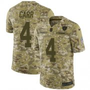 Wholesale Cheap Nike Raiders #4 Derek Carr Camo Men's Stitched NFL Limited 2018 Salute To Service Jersey