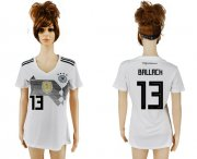 Wholesale Cheap Women's Germany #13 Ballack White Home Soccer Country Jersey