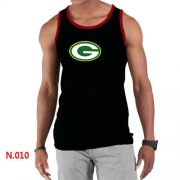 Wholesale Cheap Men's Nike NFL Green Bay Packers Sideline Legend Authentic Logo Tank Top Black