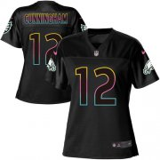 Wholesale Cheap Nike Eagles #12 Randall Cunningham Black Women's NFL Fashion Game Jersey