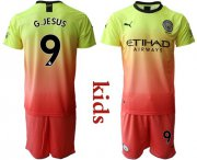 Wholesale Cheap Manchester City #9 G.Jesus Away Kid Soccer Club Jersey