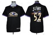 Wholesale Cheap Nike Ravens #52 Ray Lewis Black Men's NFL Game All Star Fashion Jersey