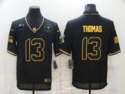 Wholesale Cheap Men's New Orleans Saints #13 Michael Thomas Black Gold 2020 Salute To Service Stitched NFL Nike Limited Jersey