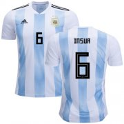 Wholesale Cheap Argentina #6 Insua Home Soccer Country Jersey