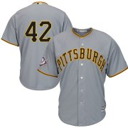 Wholesale Cheap Pittsburgh Pirates #42 Majestic 2019 Jackie Robinson Day Official Cool Base Jersey Gray