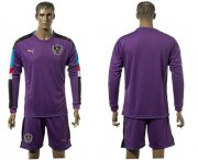 Wholesale Cheap Austria Blank Purple Goalkeeper Long Sleeves Soccer Country Jersey