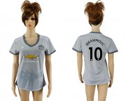Wholesale Cheap Women's Manchester United #10 Ibrahimovic Sec Away Soccer Club Jersey