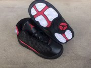 Wholesale Cheap Little Kids Jordan 13 Shoes Black Red