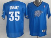 Wholesale Cheap Oklahoma City Thunder #35 Kevin Durant Revolution 30 Swingman 2013 Christmas Day Blue Jersey