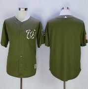 Wholesale Cheap Nationals Blank Green Camo New Cool Base Stitched MLB Jersey