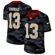Cheap New Orleans Saints #13 Michael Thomas Men's Nike 2020 Black CAMO Vapor Untouchable Limited Stitched NFL Jersey