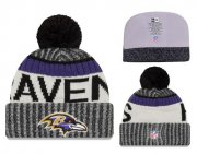 Wholesale Cheap NFL Baltimore Ravens Logo Stitched Knit Beanies 011