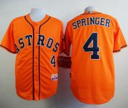 Wholesale Cheap Astros #4 George Springer Orange Cool Base Stitched MLB Jersey