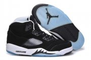 Wholesale Cheap Air Jordan 5 OREO Releases Shoes Black/Cool Grey-White