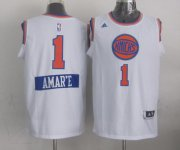 Wholesale Cheap New York Knicks #1 Amare Stoudemire Revolution 30 Swingman 2014 Christmas Day White Jersey