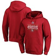 Wholesale Cheap Men's San Francisco 49ers NFL Scarlet Super Bowl LIV Bound Gridiron Pullover Hoodie