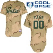 Wholesale Cheap Padres Customized Authentic Desert Camouflage Cool Base MLB Jersey (S-3XL)