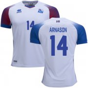 Wholesale Cheap Iceland #14 Arnason Away Soccer Country Jersey