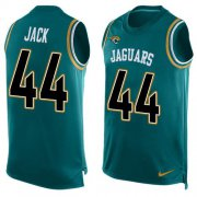 Wholesale Cheap Nike Jaguars #44 Myles Jack Teal Green Alternate Men's Stitched NFL Limited Tank Top Jersey