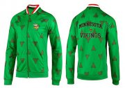 Wholesale Cheap NFL Minnesota Vikings Heart Jacket Green