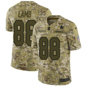 Wholesale Cheap Nike Cowboys #88 CeeDee Lamb Camo Men\'s Stitched NFL Limited 2018 Salute To Service Jersey