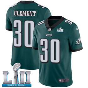 Wholesale Cheap Nike Eagles #30 Corey Clement Midnight Green Team Color Super Bowl LII Men\'s Stitched NFL Vapor Untouchable Limited Jersey