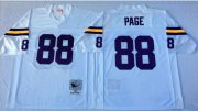 Wholesale Cheap Mitchell And Ness Vikings #88 Alan Page White Throwback Stitched NFL Jersey