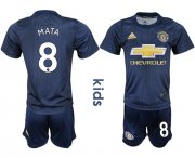 Wholesale Cheap Manchester United #8 Mata Third Kid Soccer Club Jersey