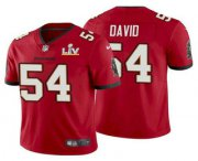 Wholesale Cheap Men's Tampa Bay Buccaneers #54 Lavonte David Red 2021 Super Bowl LV Limited Stitched NFL Jersey