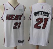 Wholesale Cheap Nike Miami Heat #21 Hassan Whiteside White NBA Swingman Association Edition Jersey