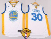 Wholesale Cheap Golden State Warriors #30 Stephen Curry 2015 The Finals New White Jersey