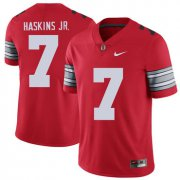 Wholesale Cheap Ohio State Buckeyes 7 Dwayne Haskins Jr Red 2018 Spring Game College Football Limited Jersey