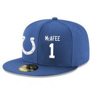 Wholesale Cheap Indianapolis Colts #1 Pat McAfee Snapback Cap NFL Player Royal Blue with White Number Stitched Hat