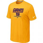Wholesale Cheap Nike New York Giants Big & Tall Critical Victory NFL T-Shirt Yellow