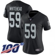 Wholesale Cheap Nike Raiders #59 Tahir Whitehead Black Team Color Women's Stitched NFL 100th Season Vapor Limited Jersey