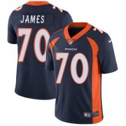 Wholesale Cheap Nike Broncos #70 Ja'Wuan James Navy Blue Alternate Men's Stitched NFL Vapor Untouchable Limited Jersey