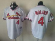 Wholesale Cheap Cardinals #4 Yadier Molina White 1982 Turn Back The Clock Stitched MLB Jersey