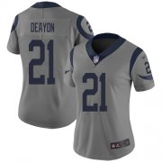 Wholesale Cheap Nike Rams #21 Donte Deayon Gray Women's Stitched NFL Limited Inverted Legend Jersey
